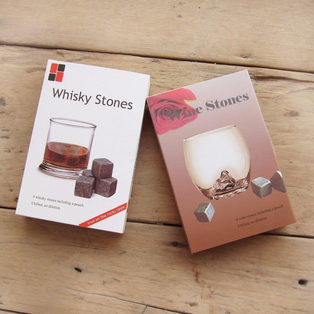 Drixon 6 colores regalo de Navidad Whisky piedras en caja de regalo delicado Whisky vino piedra Whisky roca hielo cubo decoración de la boda