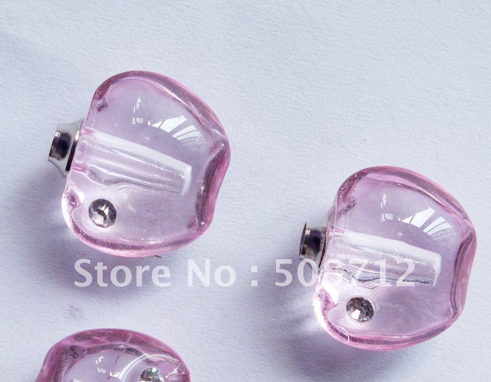 Free shipping!!!Crystal Rhinestone Apple  Perfume Vial Square,Crystal Pendant Jewelry