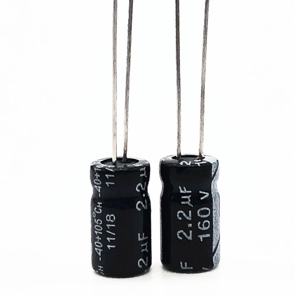 30 unids/lote 160V 2,2 UF 6*12 20% RADIAL condensador electrolítico de aluminio 2200nf 20%