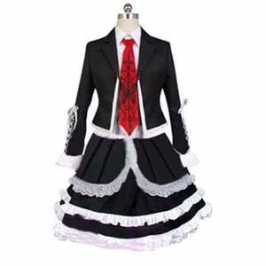 2018 Dangan Ronpa Danganronpa Celestia Ludenberg Uniform Long Sleeve Top Short Dress Anime Halloween Cosplay Costume