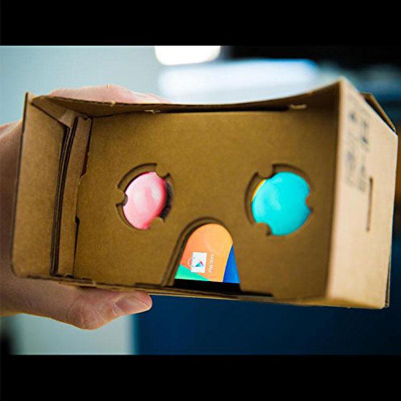 O cartão esperto dos vidros vr do vidro de papel de vr vidros 3d da realidade virtual para o cartão esperto do papel de vr do telefone