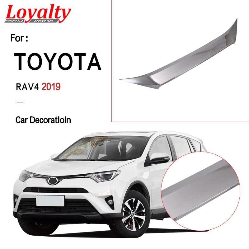Fidelity para ABS cromado frontal plateada paragolpes cubierta del motor molduras de marcos para TOYOTA RAV4 2019 accesorios de coche Auto Styling