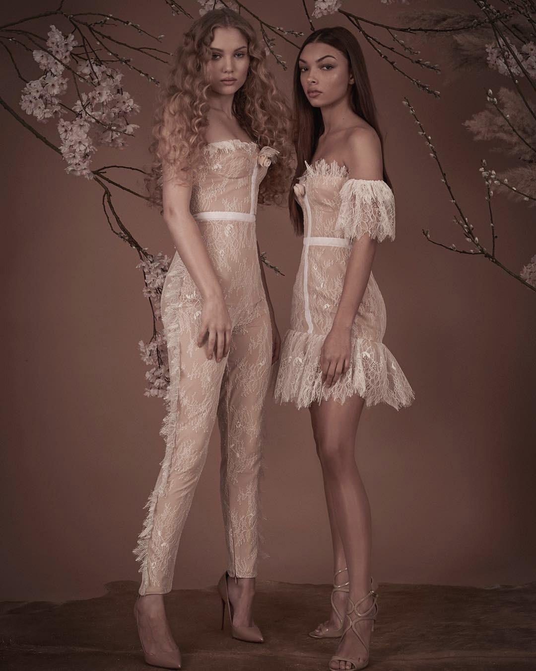 White Lace Slash Neck Fashion Sexy Rayon Bandage Dress High Quality Club Party Dress