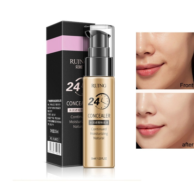 24 horas de larga duración cara maquillaje corrector Fundación cosméticos brillo hidratante Natural Crema para maquillaje