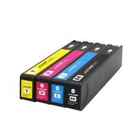 4PK compatible hp 913a ink cartridge for hp PageWide 352dw/377dw 452dw/452dn/477dw/477dn/552dw/577dw printer