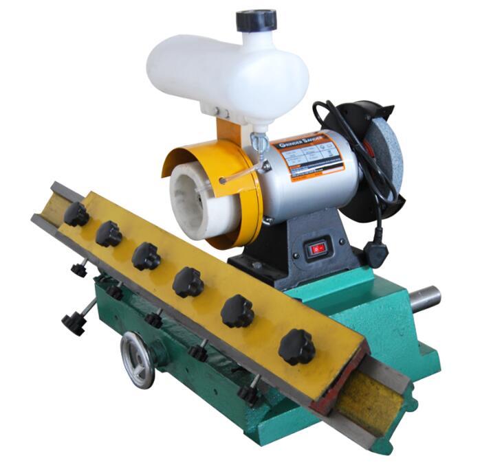 Afilador de cuchillos rectos para carpintería, Máquina rectificadora de bordes de banco, amoladora de carpintería de hoja recta, máquina amoladora de 220V 0,56kw