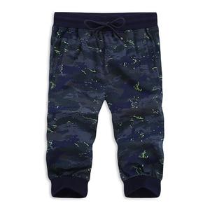 Free shipping plus size L-8xl  cotton elastic waist male loose shorts short men beach Camouflage short trousers hiphop