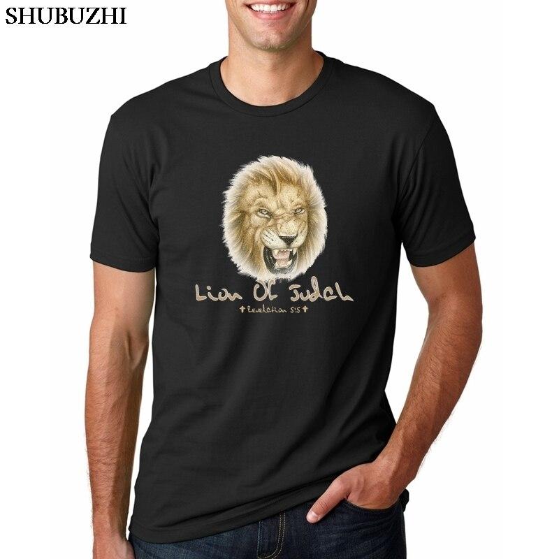 Camisa de t camisa de judaísmo judaico dos homens do leão de judaísmo cristão t camisas etiópia de judá camiseta camiseta de fitness rastafa