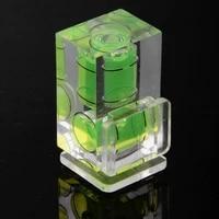 3 pcs mini one dimensional two dimensional three dimensional bubble spirit level acrylic for camera level measure tools