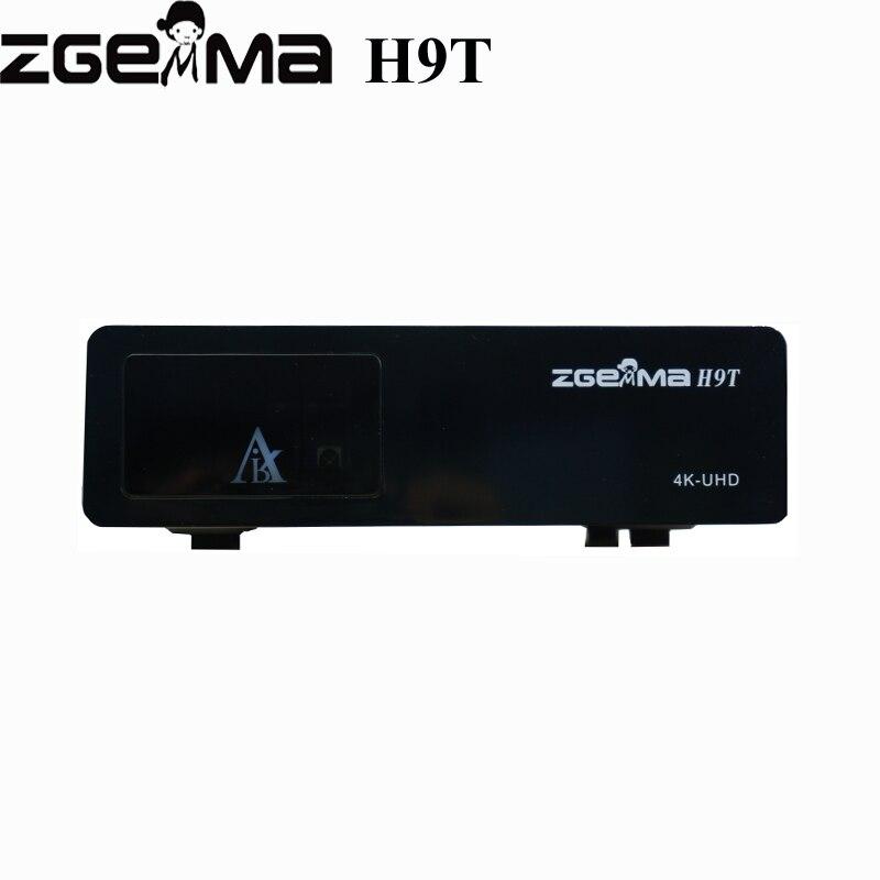 2 pçs/lote Low Cost Quad-Core 4 K Receptor ZGEMMA H9T com um DVB-T2/C Sintonizador Híbrido PIP caixa de IPTV