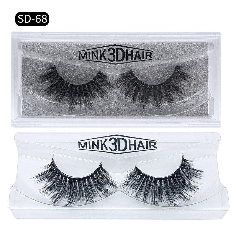 Romantic Bear 3D False Eyelashes Handmade Mink Hair Fake Lashes makeup accessories for eyes 600sets/lot DHL free YL003