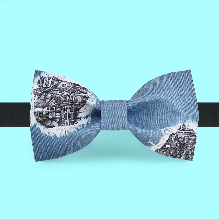 Free Shipping New Male men's fashion casual Fashionable bow tie groom dress bow tie pot mechanical jeans