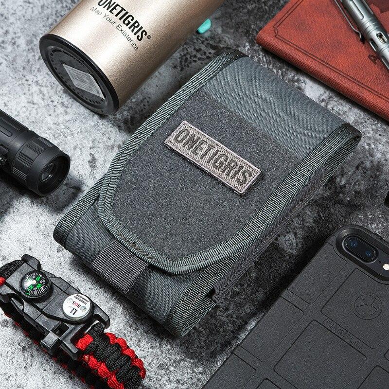 OneTigris MOLLE táctico caza riñonera soporte para Smartphone bolsa para iPhone6s SE iPhone6 Plus 8Plus iPhone X