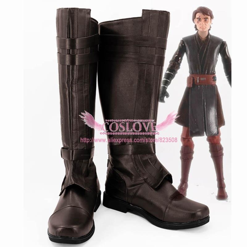Ataque dos Clones Episódio Anakin Skywalker Brown Cosplay Botas Cosplaylove ii