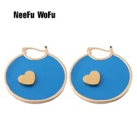 neefu wofu brand leather earring butterfly big earrings alloy heart large long woman brinco ear oorbellen christmas