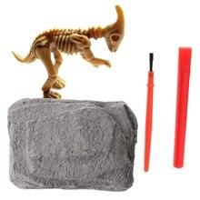 OOTDTY nowość dinozaur Fossil zestaw modeli jurajski archeologiczny edukacja zabawka dla dzieci