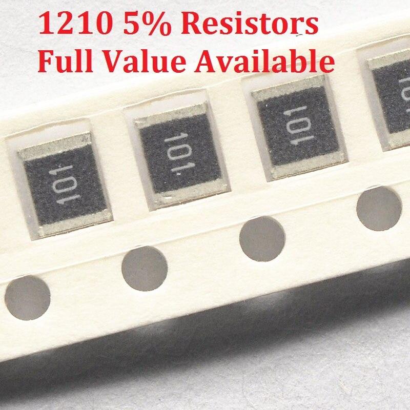 100 unids/lote resistencia SMD de tipo Chip 1210 56 K/62 K/68 K/75 K/82 K/Ohm resistencia 5% 56/62/68/75/82/K resistencias envío gratis
