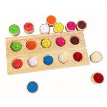 Jouet éducatif dapprentissage précoce pour enfants montessori sensoriel toucher sentiment outils de train match jeu jouets pour enfants