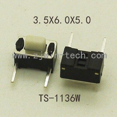 50 PCS 3X6X5mm 2Pin Botão Interruptor Tato Botão Interruptor M (lado dois pés DIP) Interruptor Tato Momentânea
