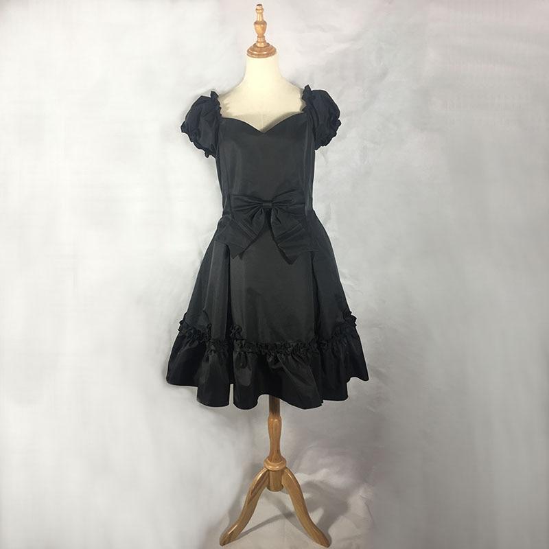 Personalizado 2019 verano manga corta Lolita negro vestido clásico dulce rojo gótico vestido JSK traje para niña