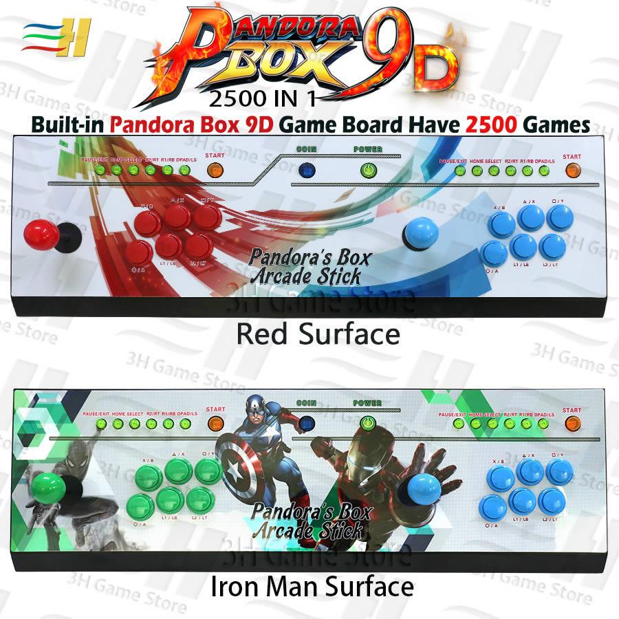 Pandora Box 9D 2500 en 1, consola de juegos arcade, controlador, usb, conexión 3P 4P, gamepad, compatible con juego 3D tekken mortal kombat