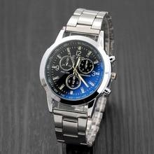 Top Brand Luxury WristWatch For Men Fashion Blue Glass Men's Watch Man Watches Steel Clock erkek kol