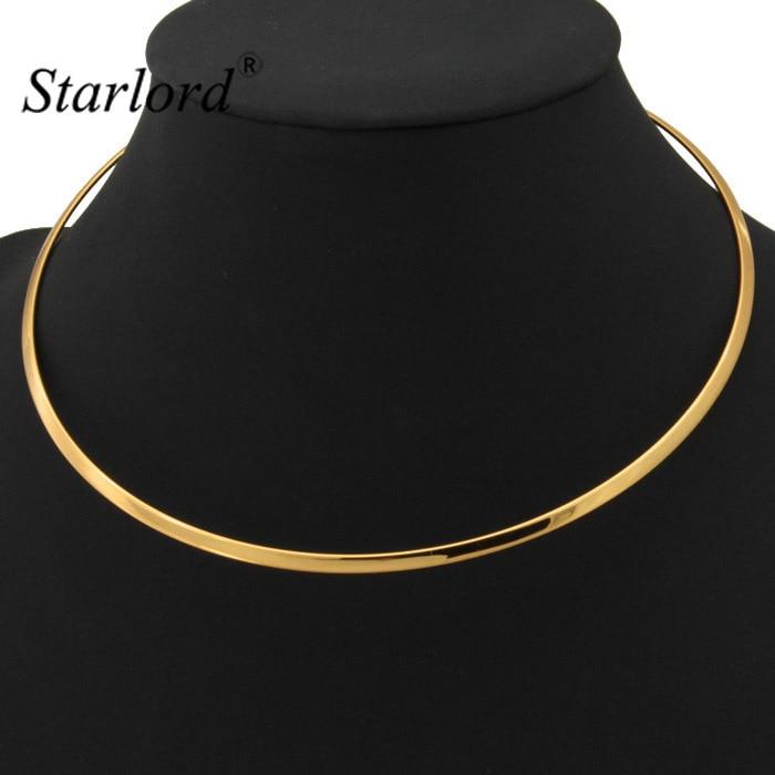 Collar de gargantilla de Starlord para mujer joyería de hombre Vintage de oro/plata joyería de moda de Torques collar gargantilla N227