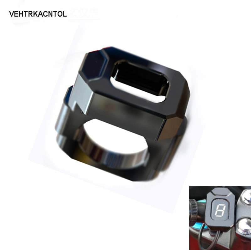 VEHTRKACNTOL Indicador de marcha soporte para Yamaha XJ6 FZ6 FZ8 R1 R6 Suzuki DL650 GSF650 GSXR600 GSXR750 DL1000 indicador