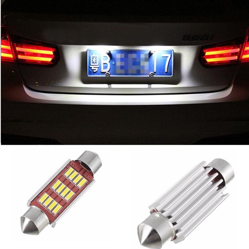 2pcs CANBUS LED 36mm C5W Bulbs 4014SMD Interior Lights License Plate Light For AUDI A2 A3 A4 8P B5 B6 A6 4B 4F A8 8L D2 TT Q3 Q5