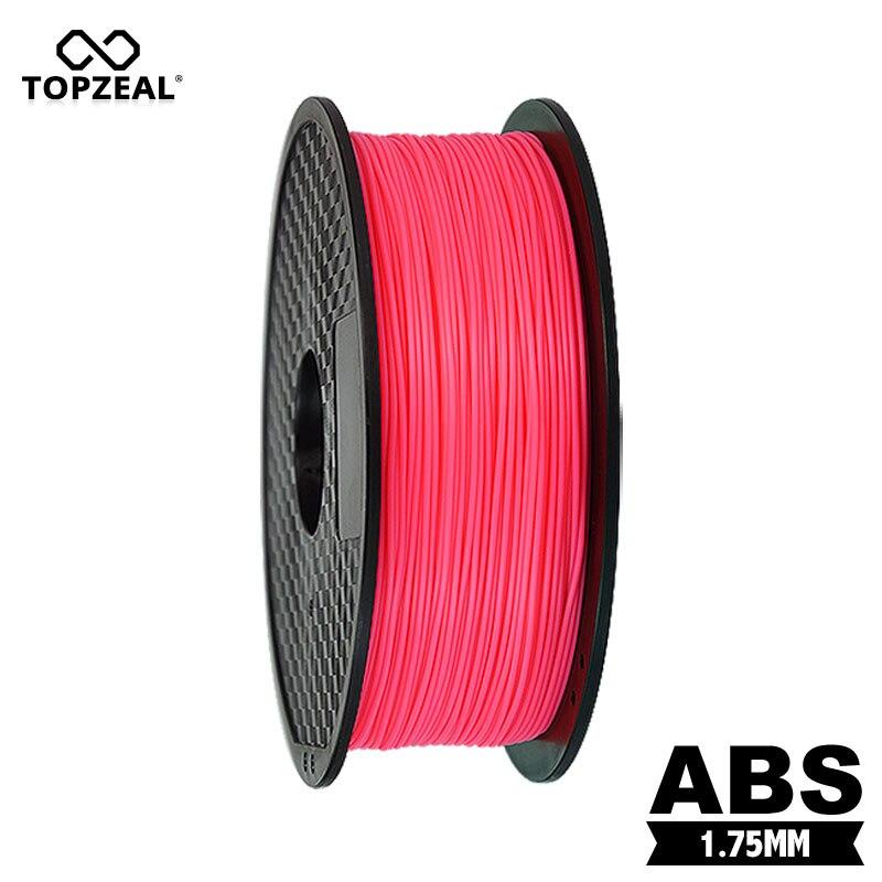 TOPZEAL-فتيل ABS ممتاز للطابعة ثلاثية الأبعاد ، 1.75 مللي متر ، بكرة 1 كجم ، لون بطيخ أحمر
