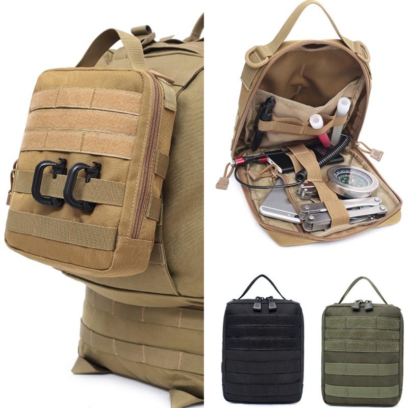 Cinturón de molle táctico al aire libre bolsa médica utilidad militar bolsas de accesorios EDC riñonera de emergencia Primeros Auxilios fundas de caza