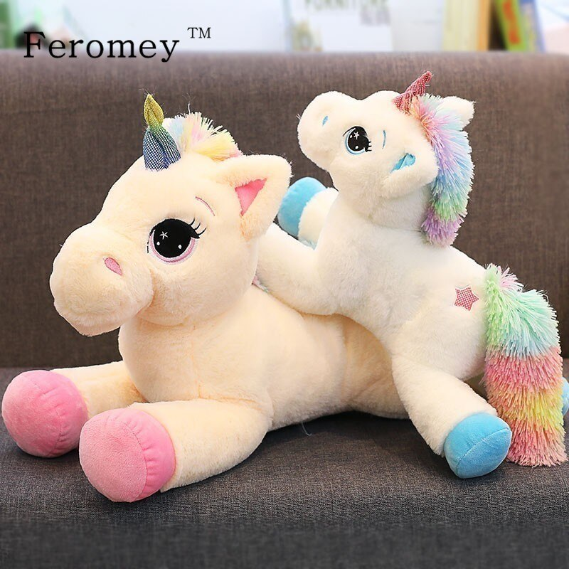 Dibujo unicornio arcoíris juguetes de peluche lindo unicornio Animal relleno s muñeco de peluche unicornio Animal relleno caballo niños bebé regalo