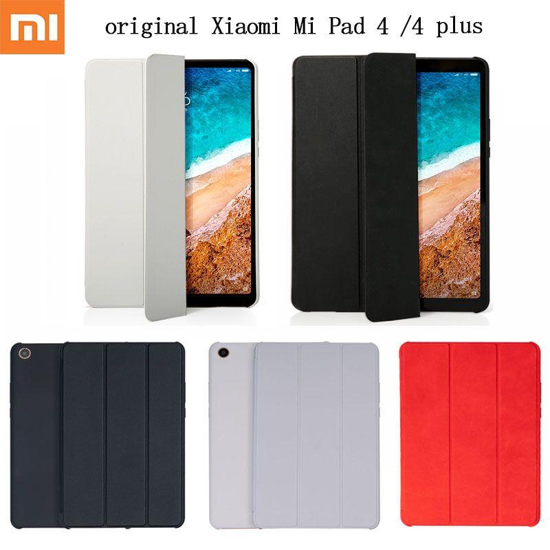 Original xiaomi mi almofada 4 /4 puls caso inteligente tablet pc matte couro flip capa protetora película protetora caso wifi lte 32/64 gb