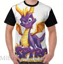 Funny print men t shirt women Tops tee Spyro Reignited Graphic T-Shirt O-neck Short Sleeve Casual tshirts
