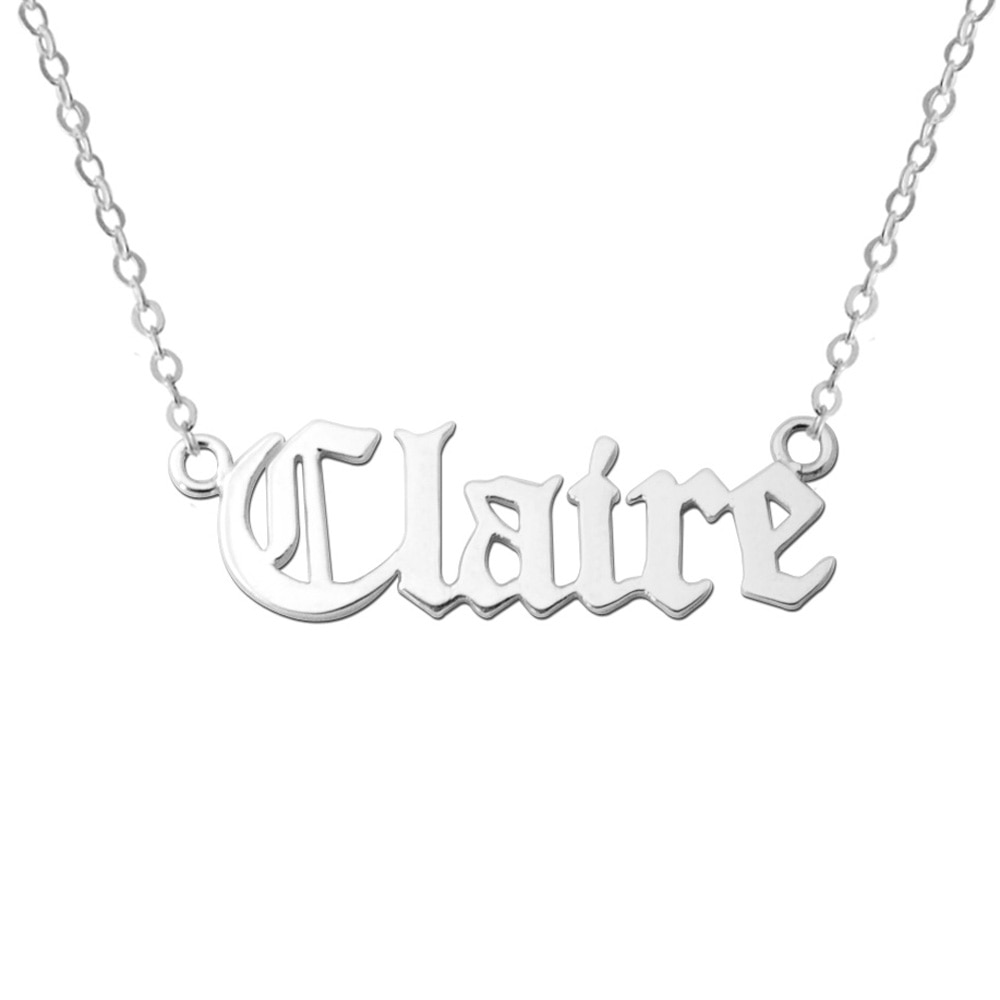 AliExpress - Old English Name Necklace Customized Necklaces Personalized Name Jewelry Custom Name Necklace Valentines' Gift Mother Gift