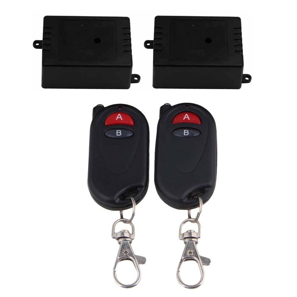 433MHz 6V 1CH 2 receptor 2Key transmisor Selflock interruptor de Control remoto