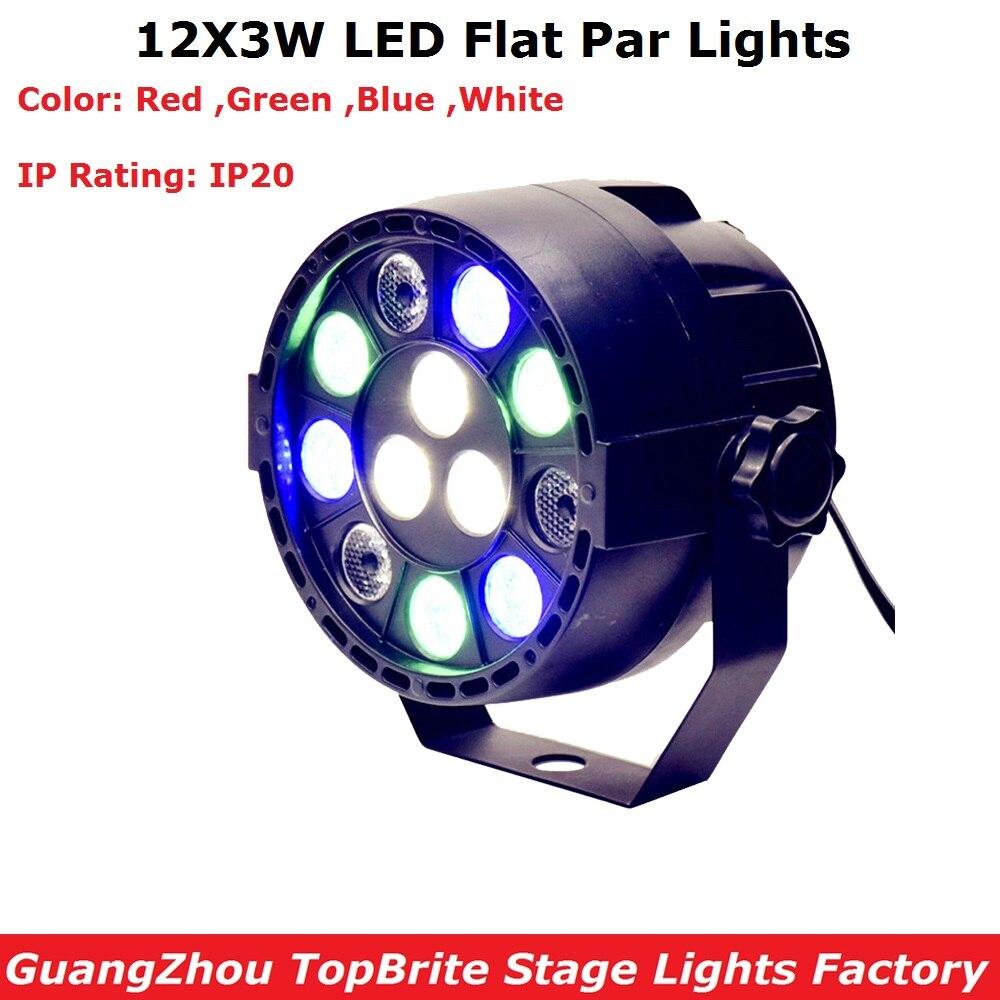 LED Par 12x3w RGBW con DMX512 para Club Disco DJ sonido activado Disco Ball etapa luz Lumiere Navidad proyector Dj boda