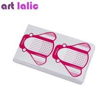100 adet gül ekleme şekilli tırnak formu yeni Nail Art İpuçları uzatma formları kılavuzu fransız DIY akrilik UV jel tırnak araçları