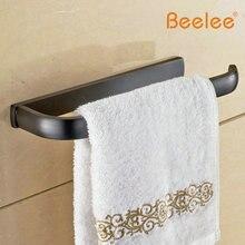 Beelee BL7704B-anneau serviette de salle de bain   Serviette de porte-serviettes en laiton noir brossé, Bronze frotté et laiton