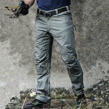 Pantalon Cargo tactique militaire hommes Force spéciale armée de Combat pantalon SWAT imperméable grand Multi poche coton Long pantalon S-2XL