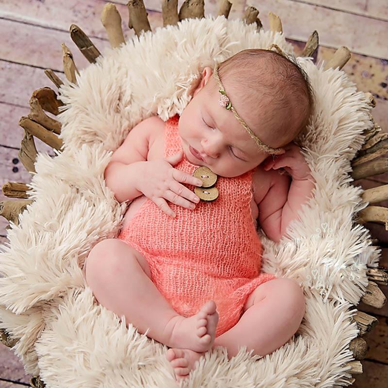 Bebé recién nacido bonito mono de ganchillo traje de punto accesorio foto fotografía sombrero de bebé accesorios de foto recién nacido bebé niñas lindo traje