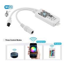 Controlador inteligente LED inalámbrico WiFi, Compatible con el sistema de Android iOS GRB BGR RGB, Alexa, Google Home IFTTT