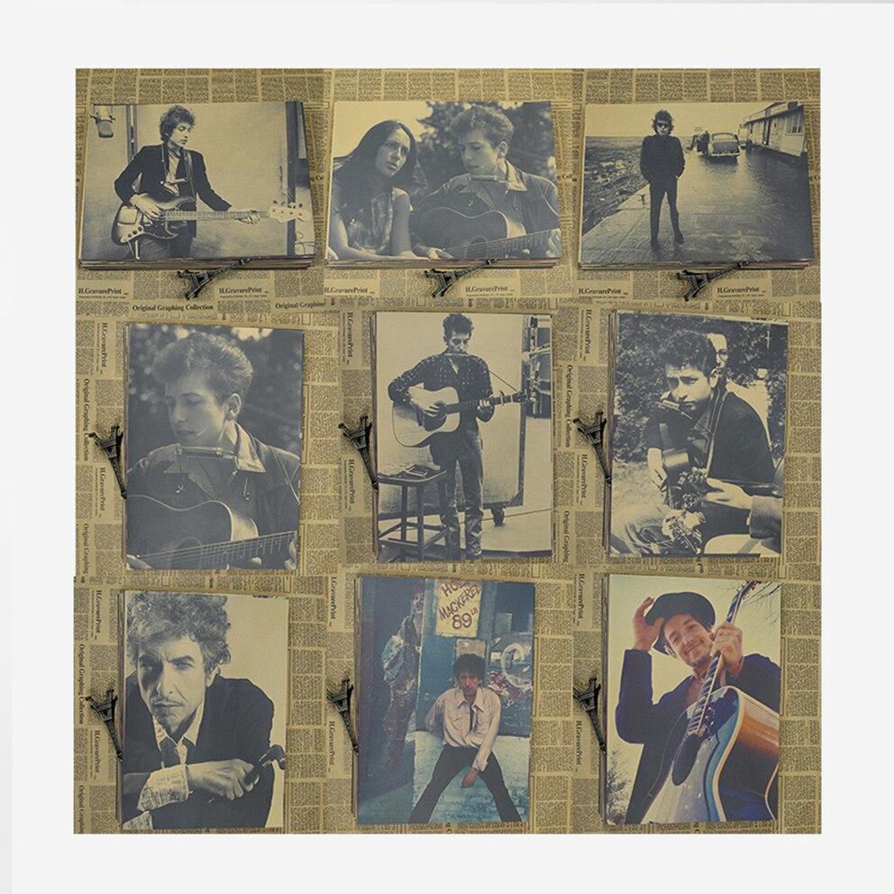 Vintage Poster Bob Dylan kraft papier poster dekorative malerei folk poet bar wand gemälde retro poster