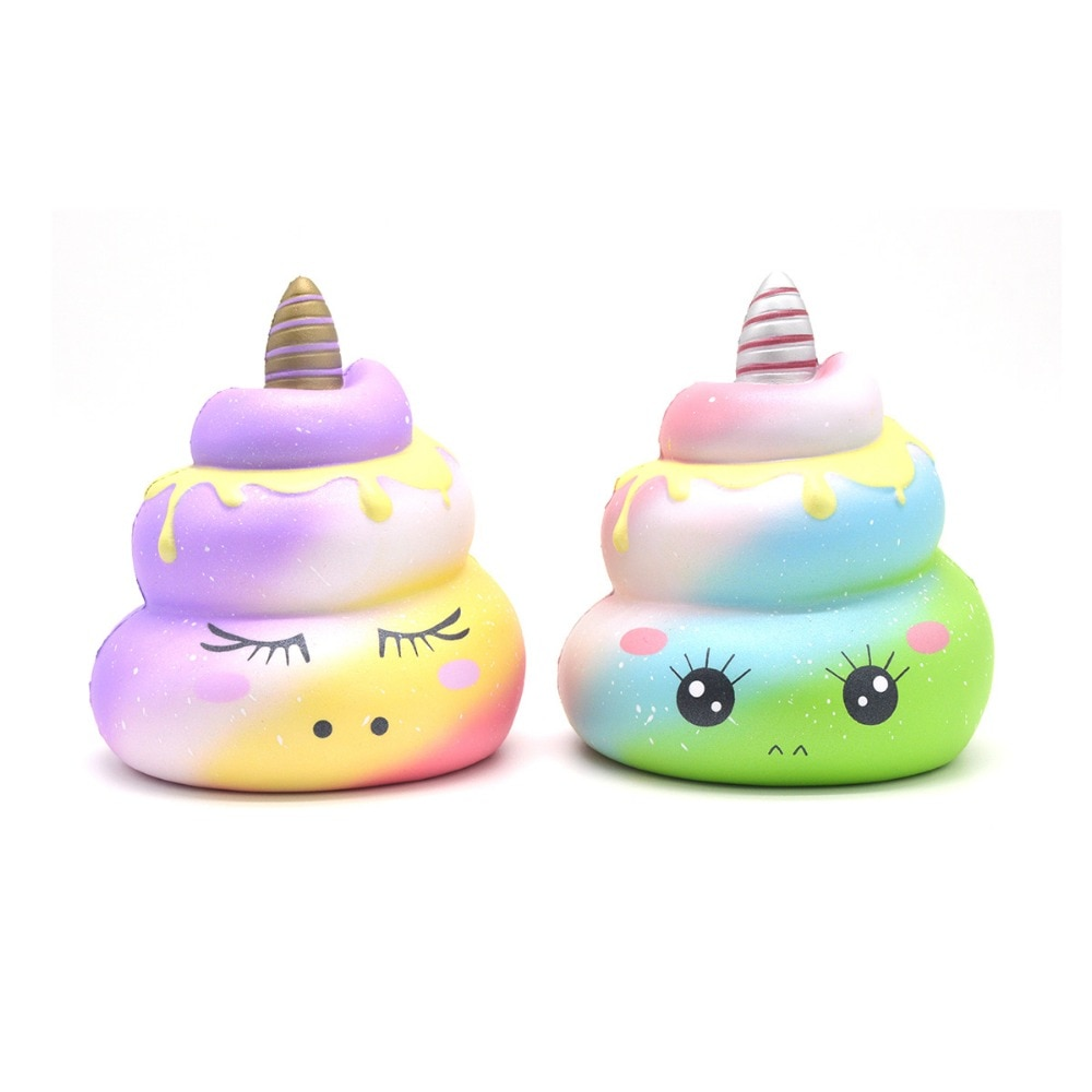 1PCS Kiibru Squishy Poo Unicorn Colossal Slow Rising Scented Soft Odor Press Stress Cartoon Cute Funny Kid Toys Gift Hand Pillow