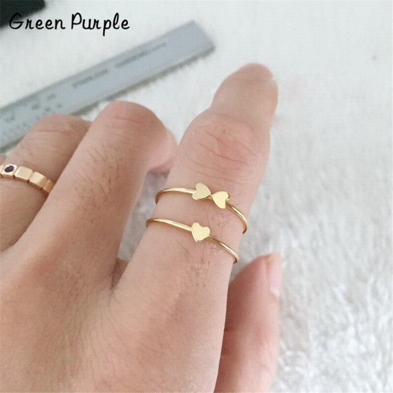 Anillo de corazón de oro, joyería de boda, nudillo bohemio para Mujer, anillo minimalista bohemio para Mujer, anillo Anelli Aneis para mujeres, Anillos