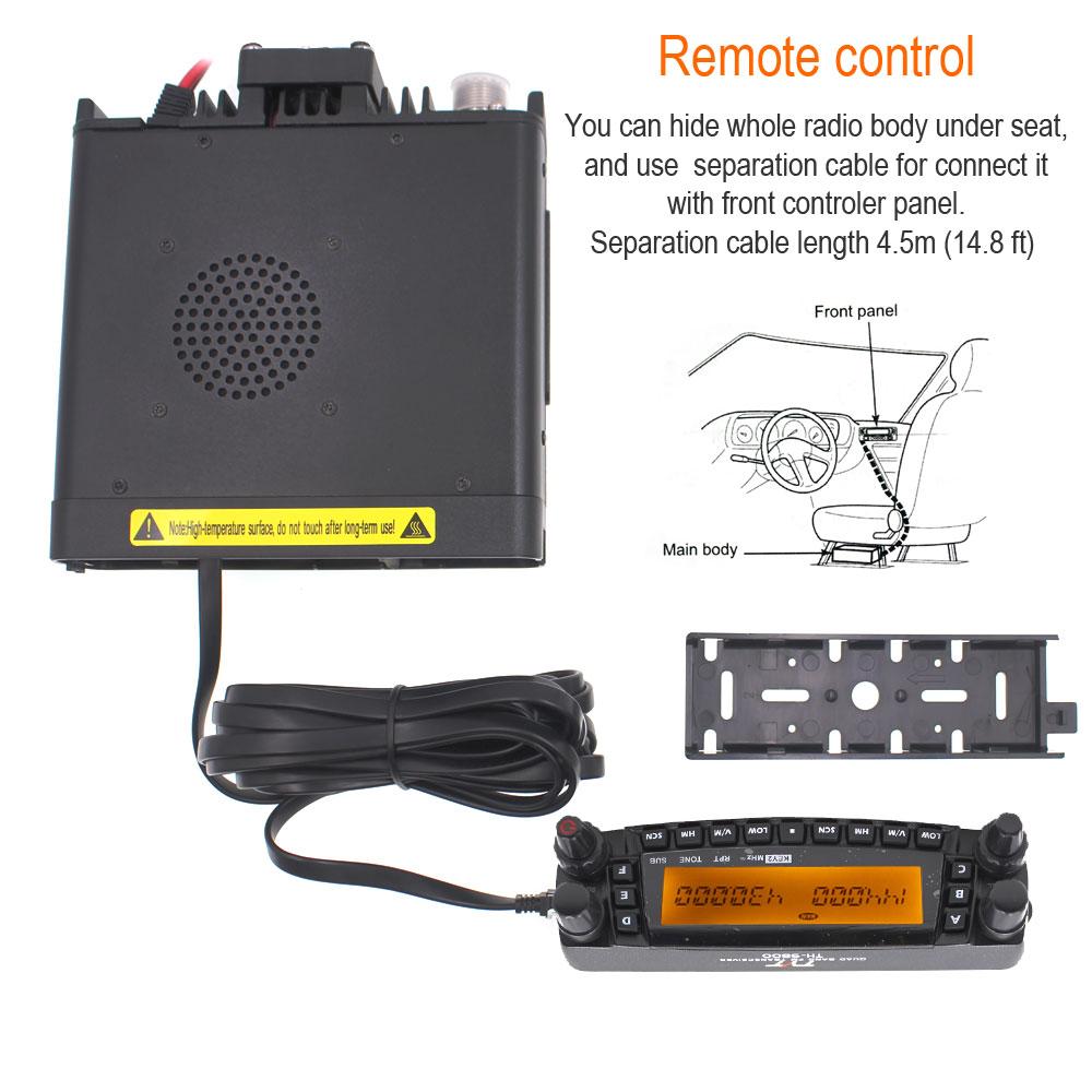 Latest version ZUIDIDTH-9800 Quad Band 29/50/144/430MHz 50W Walkie Talkie Upgraded TH9800 809CH Dual Display MobileRadioStation