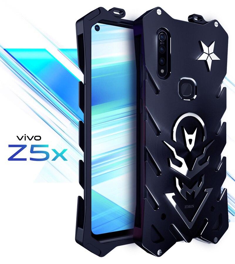 VIVO Z5X Zimon de lujo nuevo Thor Heavy Duty Armor Metal aluminio funda de teléfono para VIVO Z5X carcasa trasera