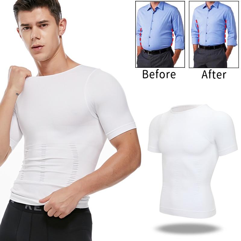 مشد تنحيف الجسم للرجال ، ملابس داخلية لتشكيل الجسم ، مشد تصحيح الموقف