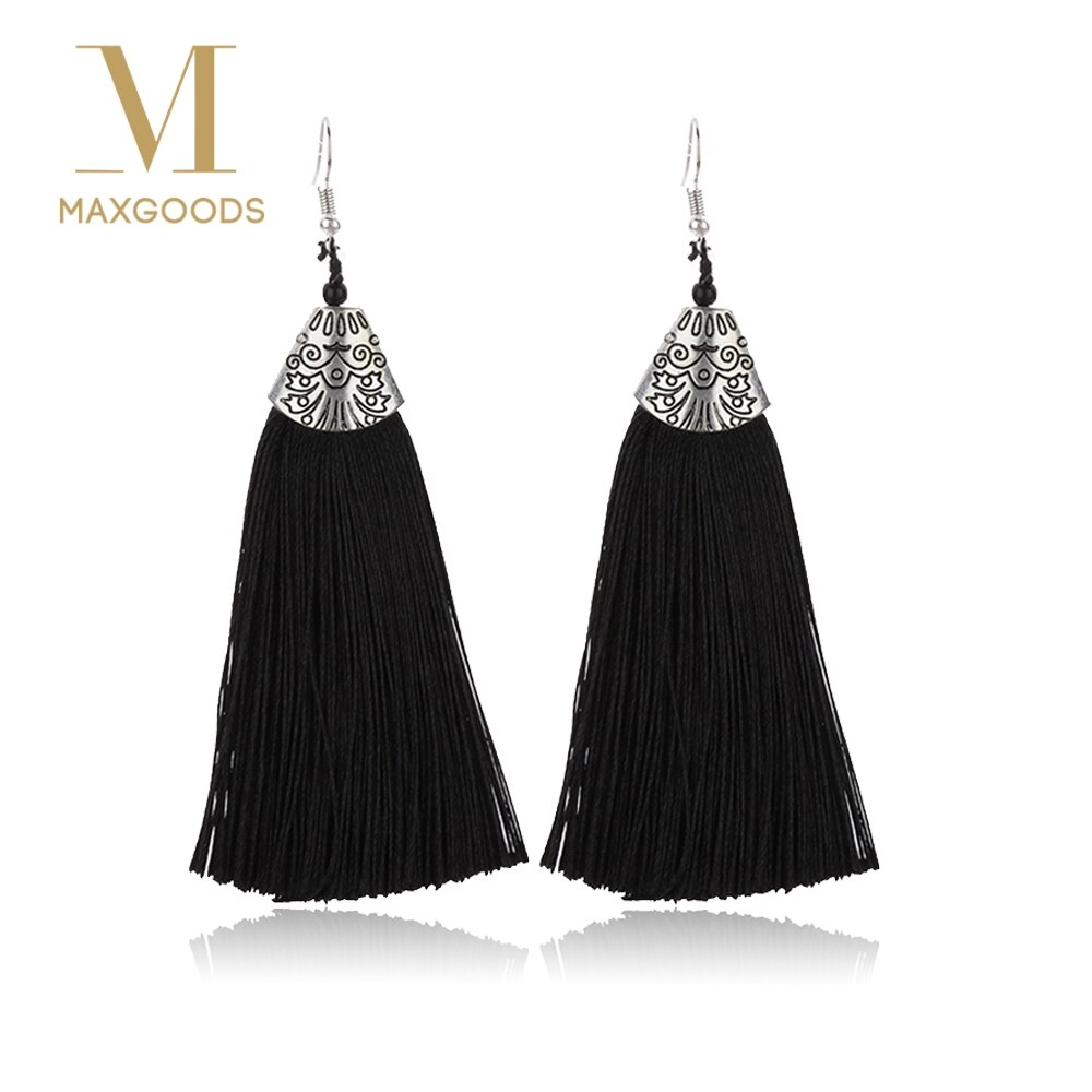 1 Pair Vintage Luxury Tassel Long Drop Earrings for Women Girl Fashion Boho Bohemian Exaggerated Brush Earrings Jewelry