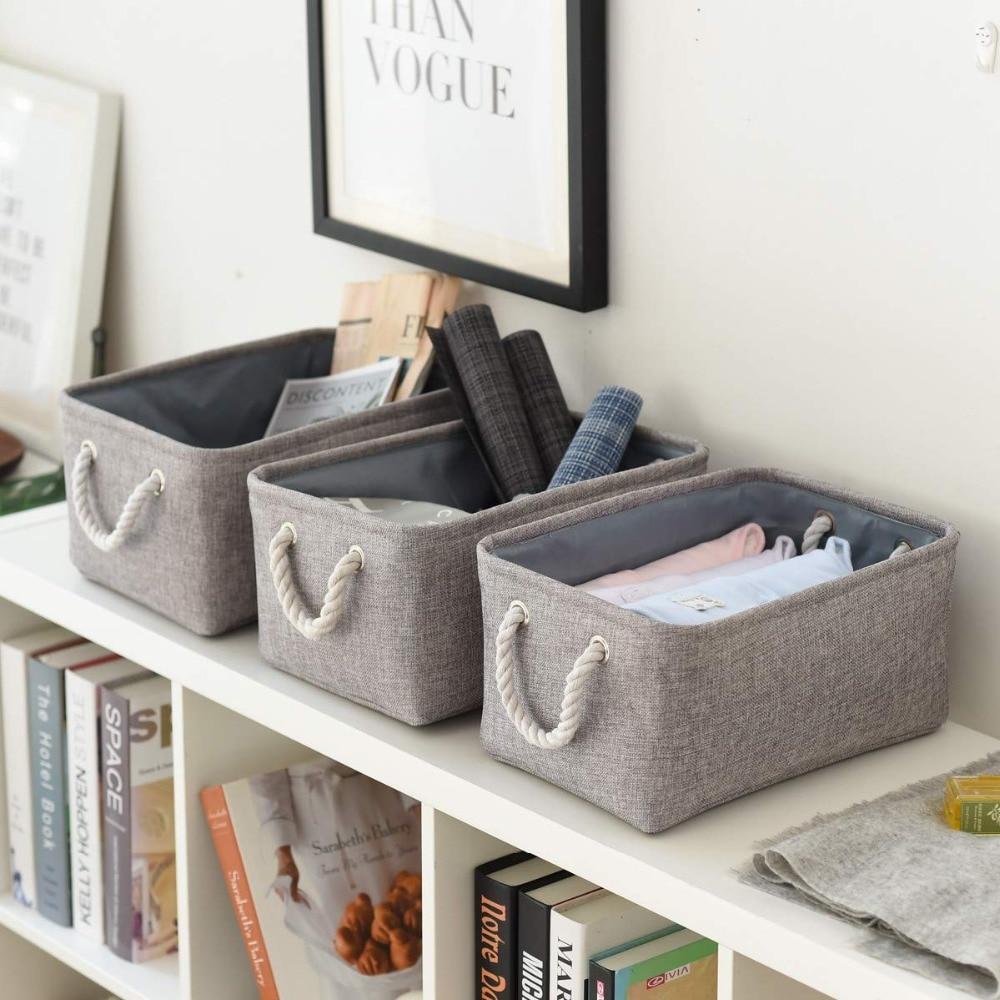 Dobrável cesta de lavanderia brinquedo saco de armazenamento meias roupa interior organizador bra livros brinquedos caixa de armazenamento organizador cosméticos berçário cesto